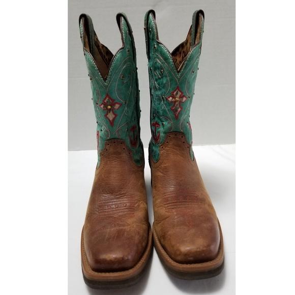 f6c99469f Tony Lama Leather Star Cowgirl Boots